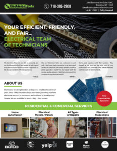 Electrician techs Fact Sheet